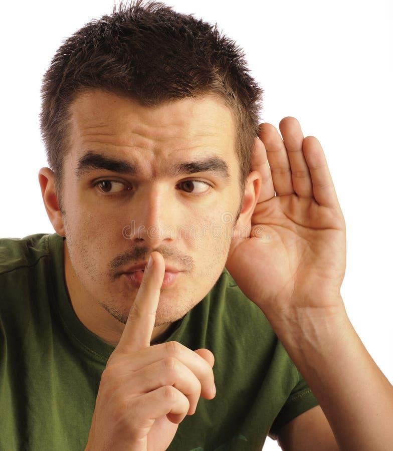 Download Eavesdropping imagem de stock. Imagem de isolado, humor - 26511279