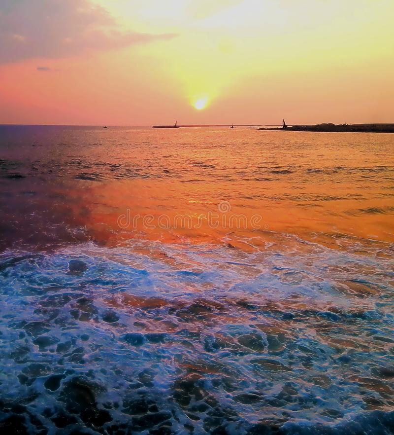 Eavining ηλιοβασίλεμα Beautyfully στοκ εικόνες