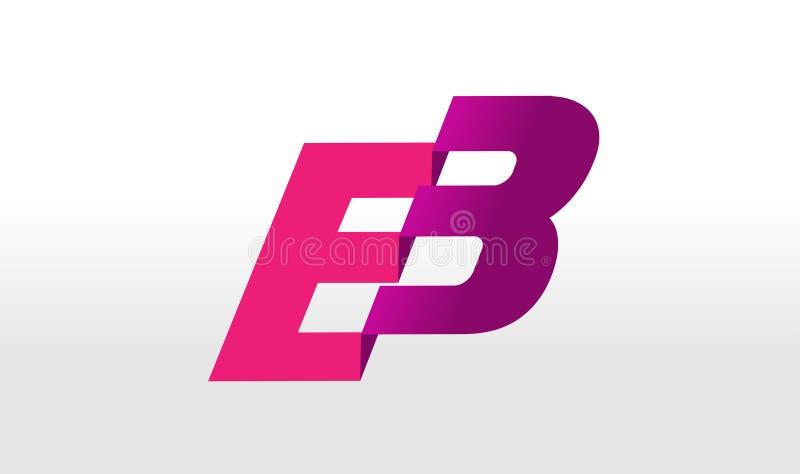 EB logo Listowego projekta wektor ilustracji