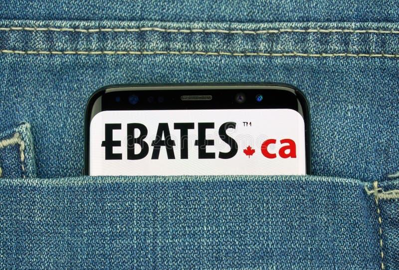 Ebates Kanada mobilny app na Samsung s8 obraz stock