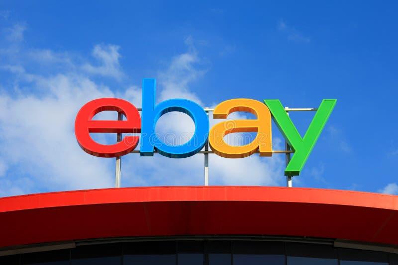 ebay logo arkivfoto