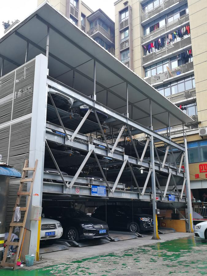 Download Eben Beweglicher Parkplatz In China Redaktionelles Bild - Bild von auto, dose: 106801965