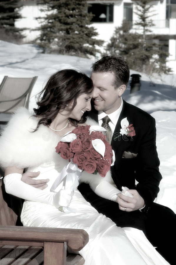 Eben geheiratet lizenzfreies stockfoto