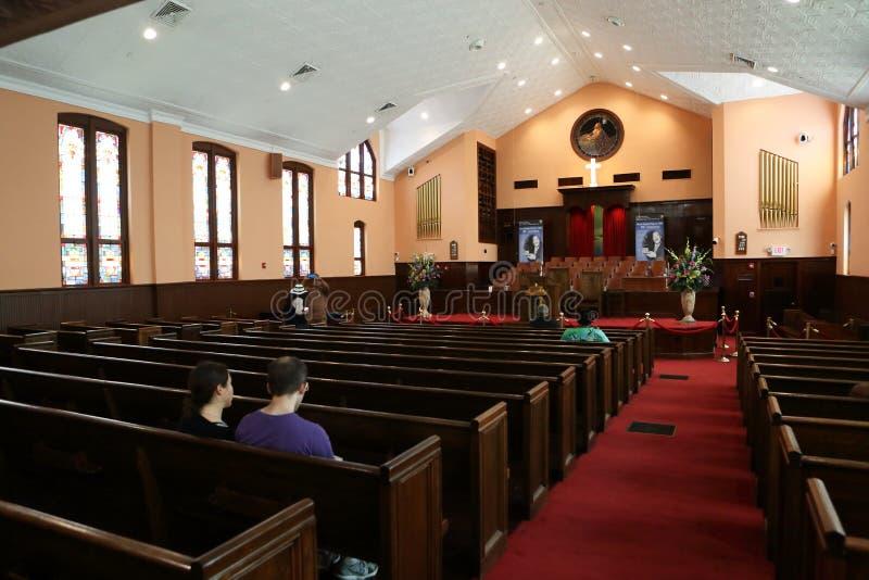 Ebenezer Baptist Church Heritage Sanctuary Atlanta stock afbeelding