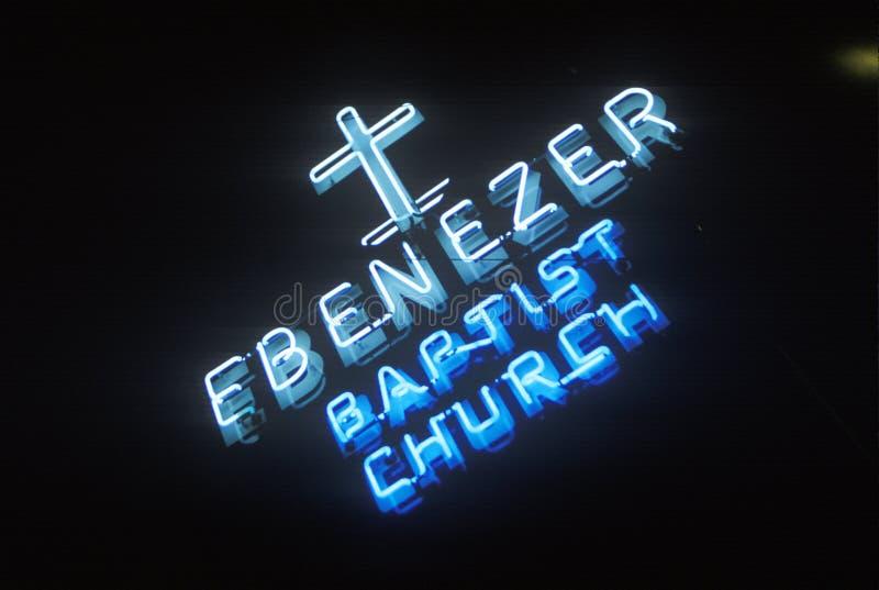 Ebenezer kościół baptystów w Atlanta Gruzja zdjęcia royalty free