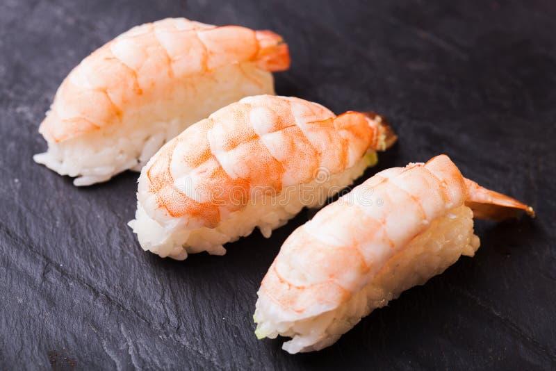 Ebi sushi with shrimp stock photo