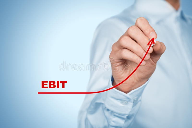 EBIT increase royalty free stock photo