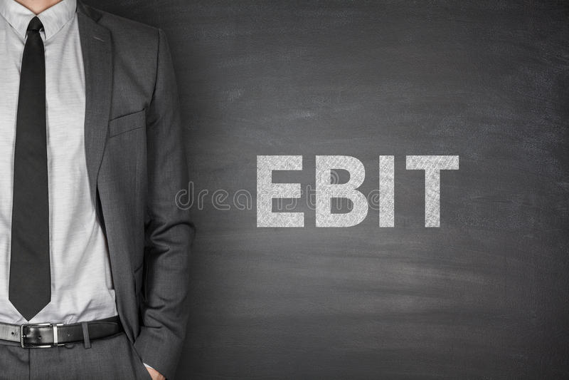 EBIT sulla lavagna fotografie stock libere da diritti