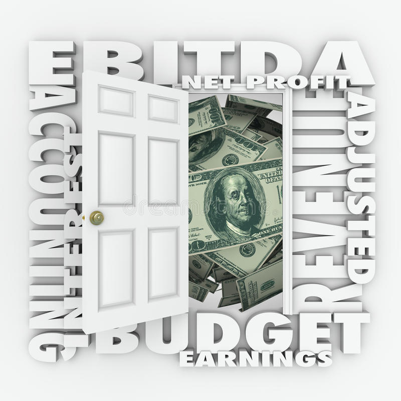 EBITDA Accounting Budget Reporting Statement Investment Profit royalty free illustration