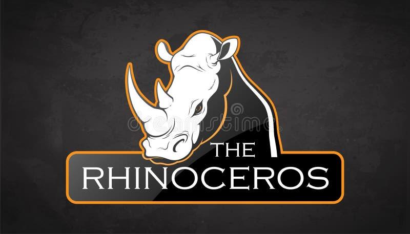 Eblema d'un rhinocéros illustration de vecteur