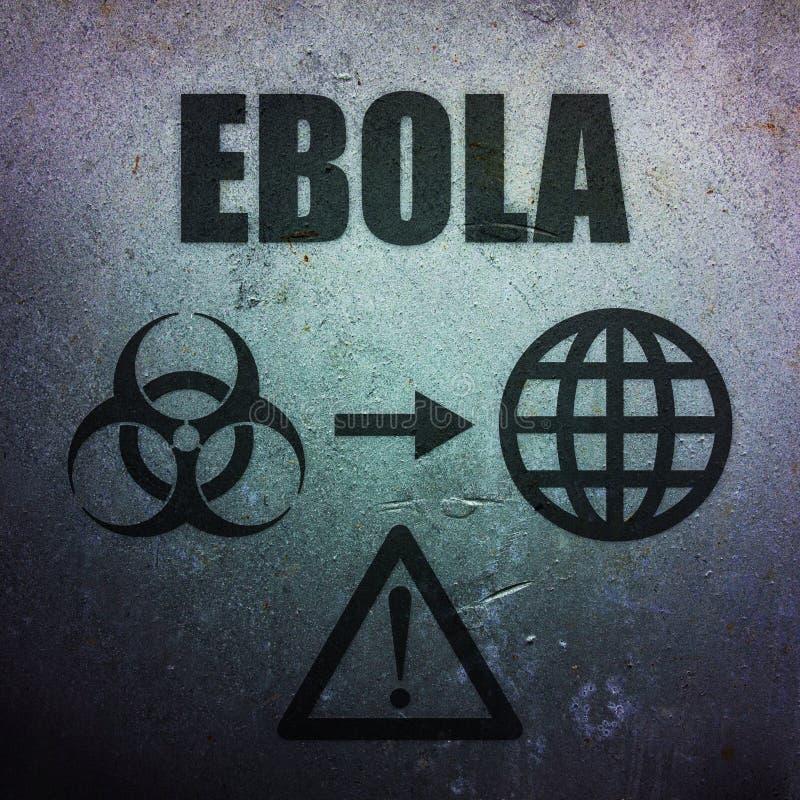 Ebola - глобальная пандемическая угроза бесплатная иллюстрация
