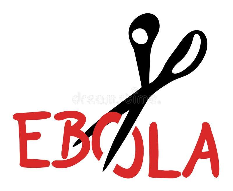 Ebola cięcie ilustracji