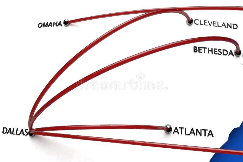 Ebola in de Verenigde Staten van Amerika vector illustratie