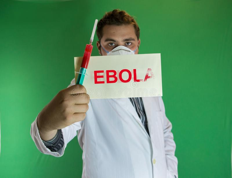 Ebola doctor stock images