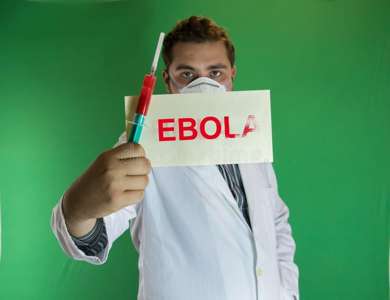Ebola Doktor stockbilder