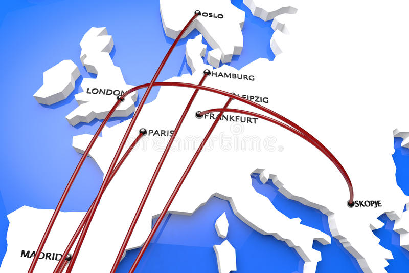 Ebola in Europa stock illustratie