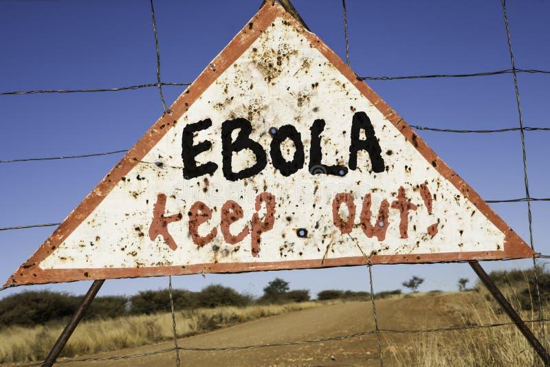 Ebola håller ut royaltyfria foton