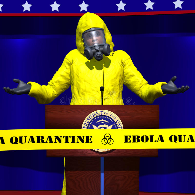 Ebola Presidential Mistake stock images