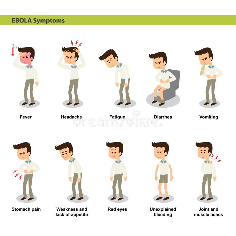 Ebola symptoms stock illustration