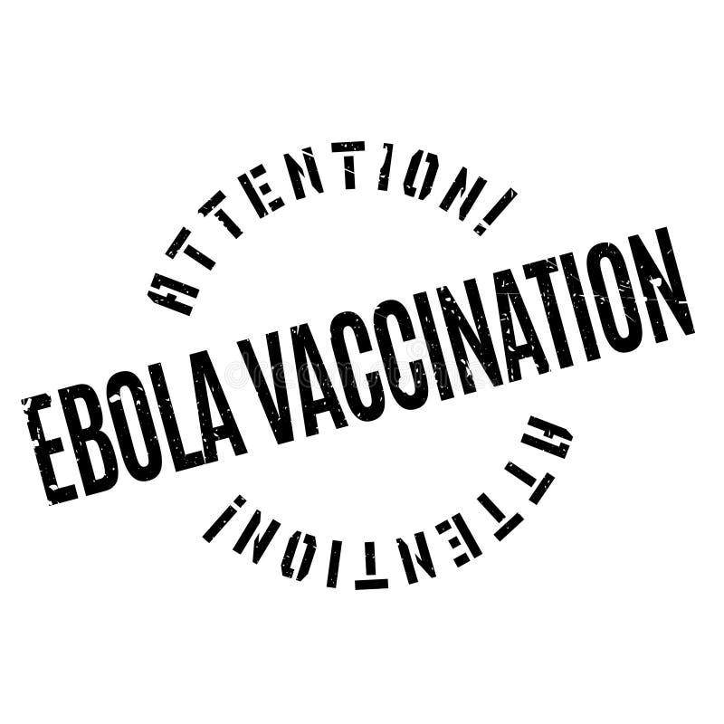 Ebola szczepienia pieczątka ilustracja wektor