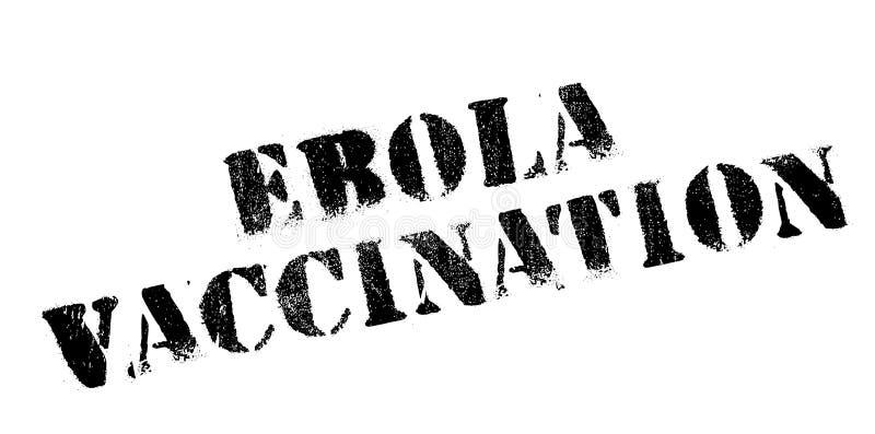 Ebola szczepienia pieczątka ilustracji