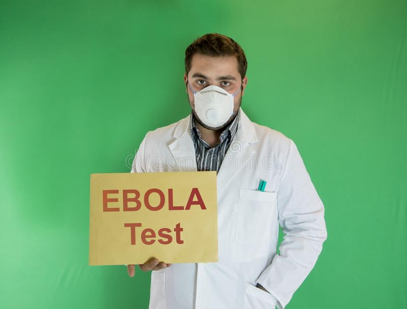 Ebola-Test stockbilder