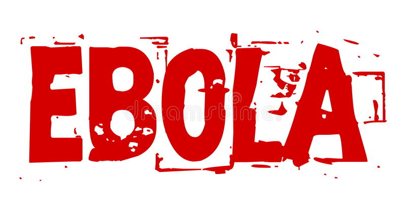 Ebola Virus blutig vektor abbildung