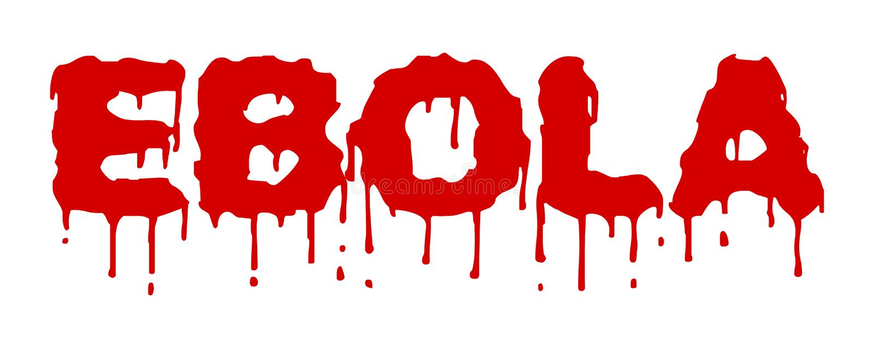 Ebola Virus blutig lizenzfreie abbildung