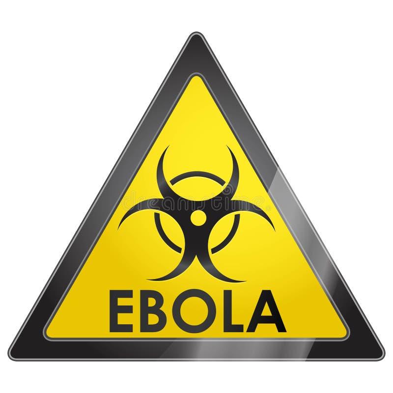 EBOLA-viruswaarschuwingsbord vector illustratie