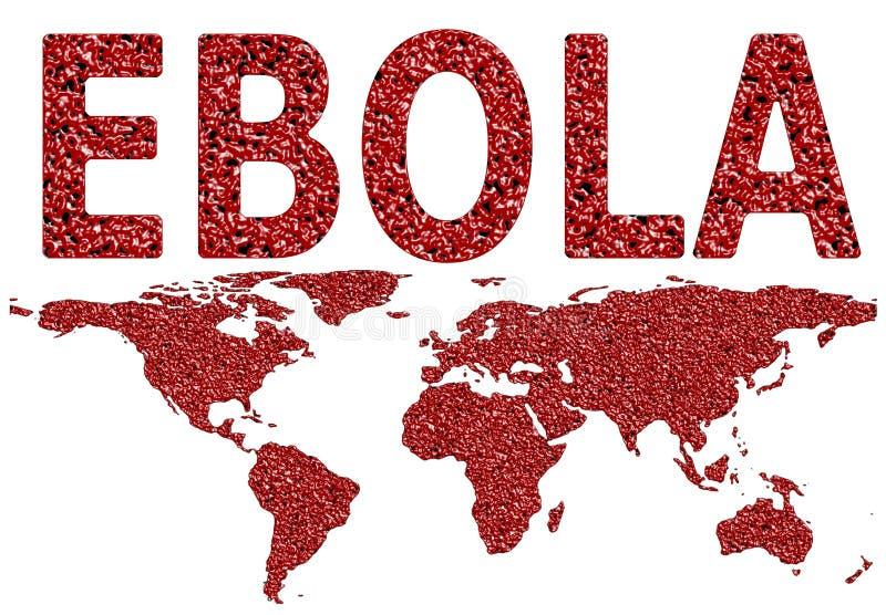 Ebola wirus Na całym świecie Rozprzestrzeniający royalty ilustracja