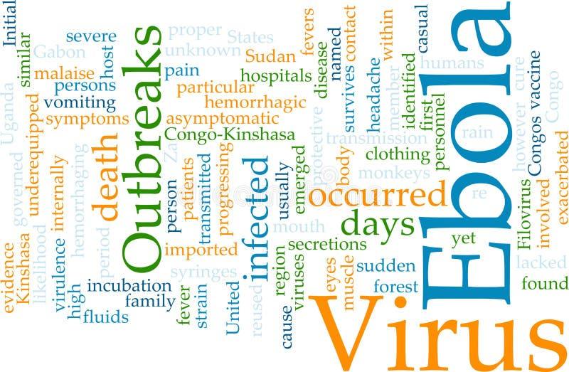 Download Ebola word cloud stock illustration. Image of fever, africa - 10871909