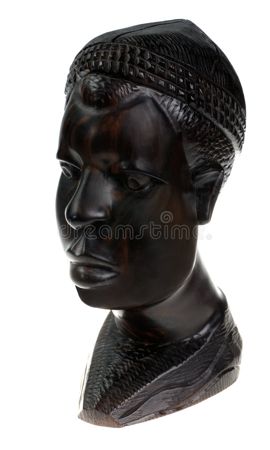 Download Ebony wooden men head stock photo. Image of statue, statuary - 2598650