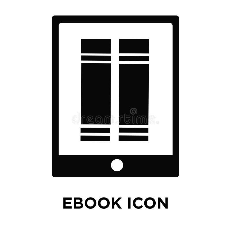 Ebook在白色背景隔绝的象传染媒介,商标概念  向量例证