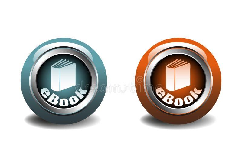 Ebook按钮 库存例证