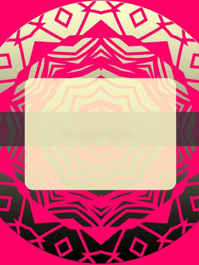 Ebook盖子70s样式桃红色和灰色与圆花窗 免版税库存照片