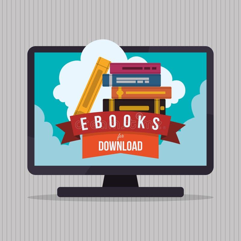 EBook象设计 库存例证