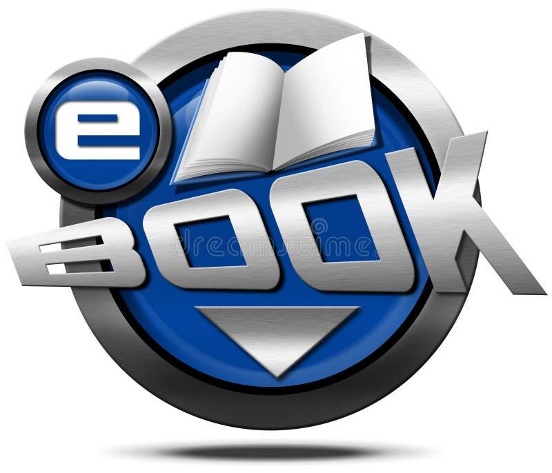 EBook - ícone metálico ilustração stock