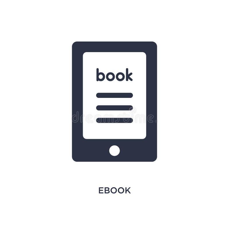 ebook εικονίδιο στο άσπρο υπόβαθρο Απλή απεικόνιση στοιχείων από την έννοια λογοτεχνίας διανυσματική απεικόνιση