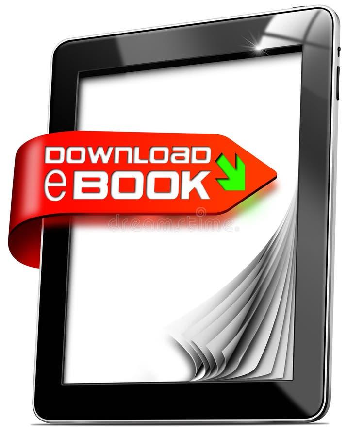 EBook ściąganie - pastylka komputer ilustracja wektor