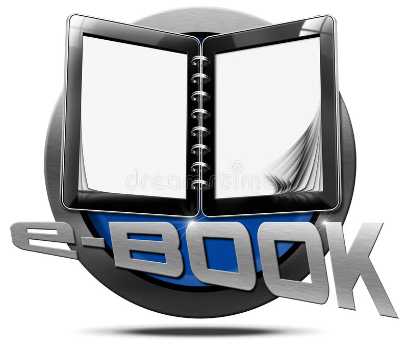 EBook - μεταλλικό εικονίδιο διανυσματική απεικόνιση