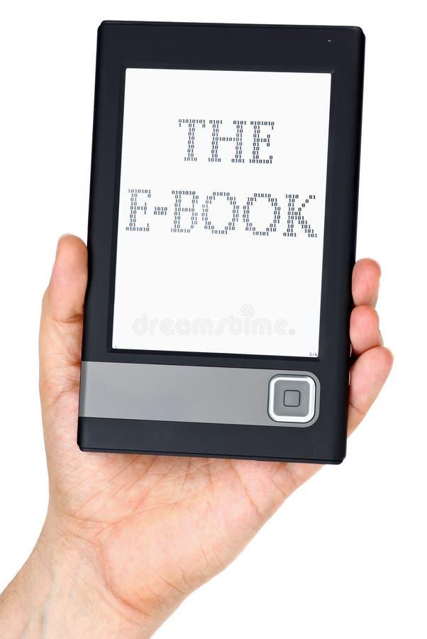 ebook σύγχρονος αναγνώστης χ&epsilo στοκ εικόνα
