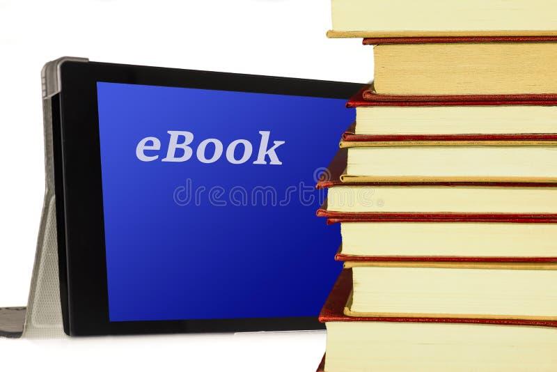 EBook - υπολογιστής και βιβλίο PC ταμπλετών στοκ φωτογραφίες με δικαίωμα ελεύθερης χρήσης