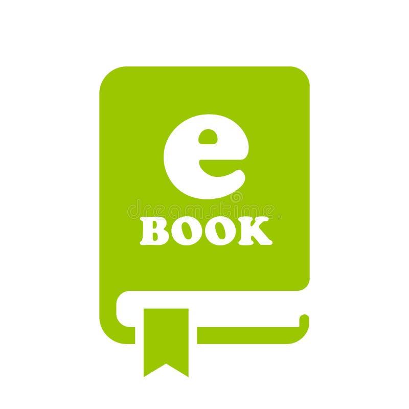 Значок вектора EBook иллюстрация штока