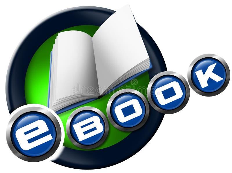 EBook - круглый значок иллюстрация штока