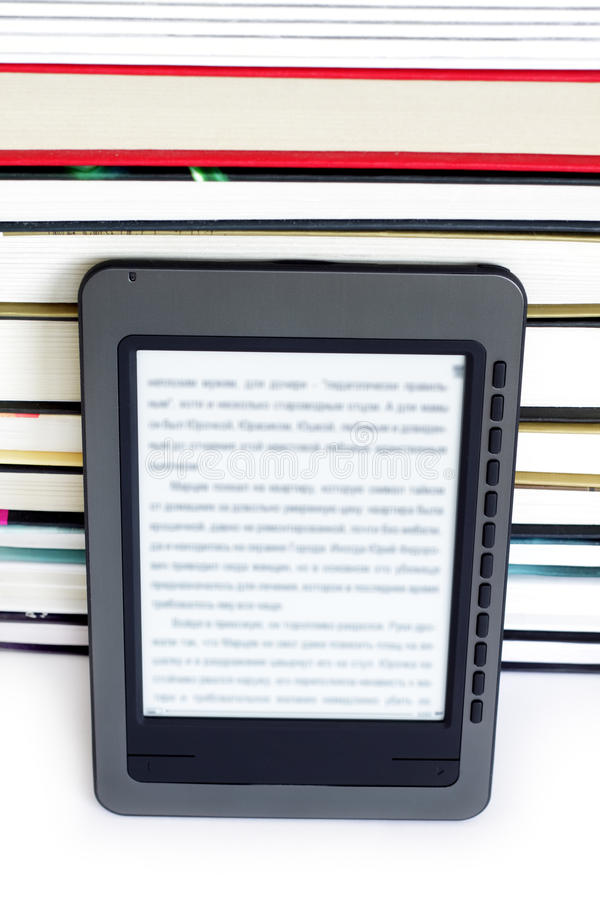 ebook czytelnik obraz stock