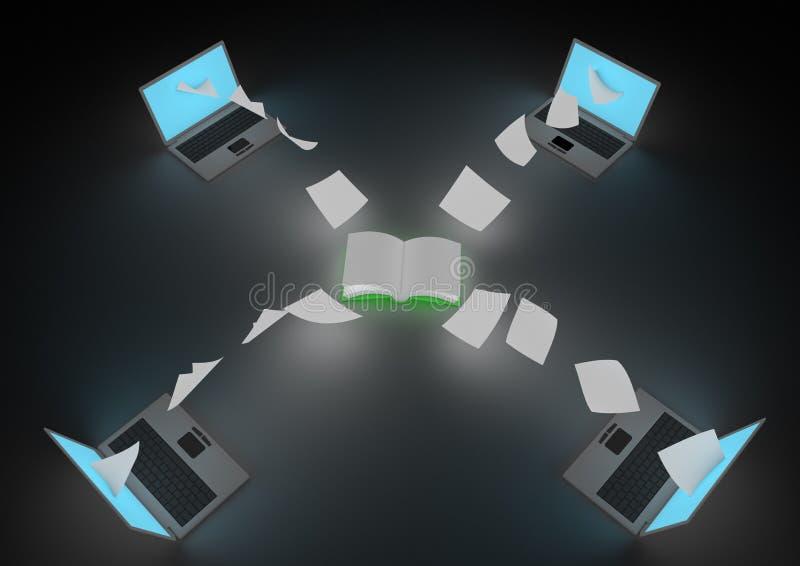 Download Ebook distribution stock illustration. Image of digitization - 21140137
