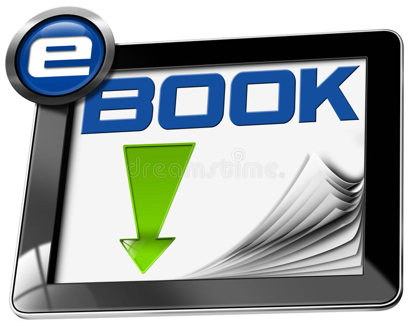 EBook-Download - Tablet-Computer stock abbildung
