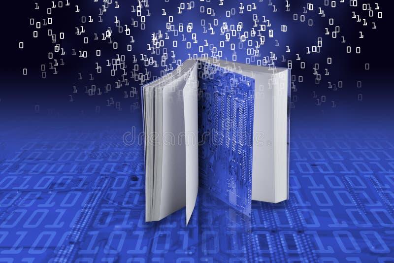 EBook - eLearning concept royalty-vrije illustratie