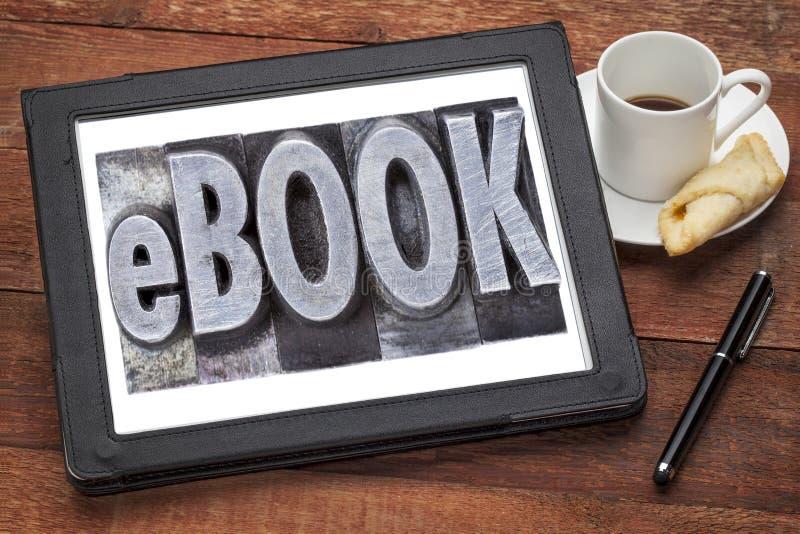 Ebook (elektroniczna książka) obraz stock
