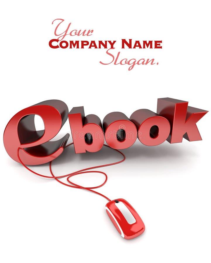 Ebook em linha ilustração stock